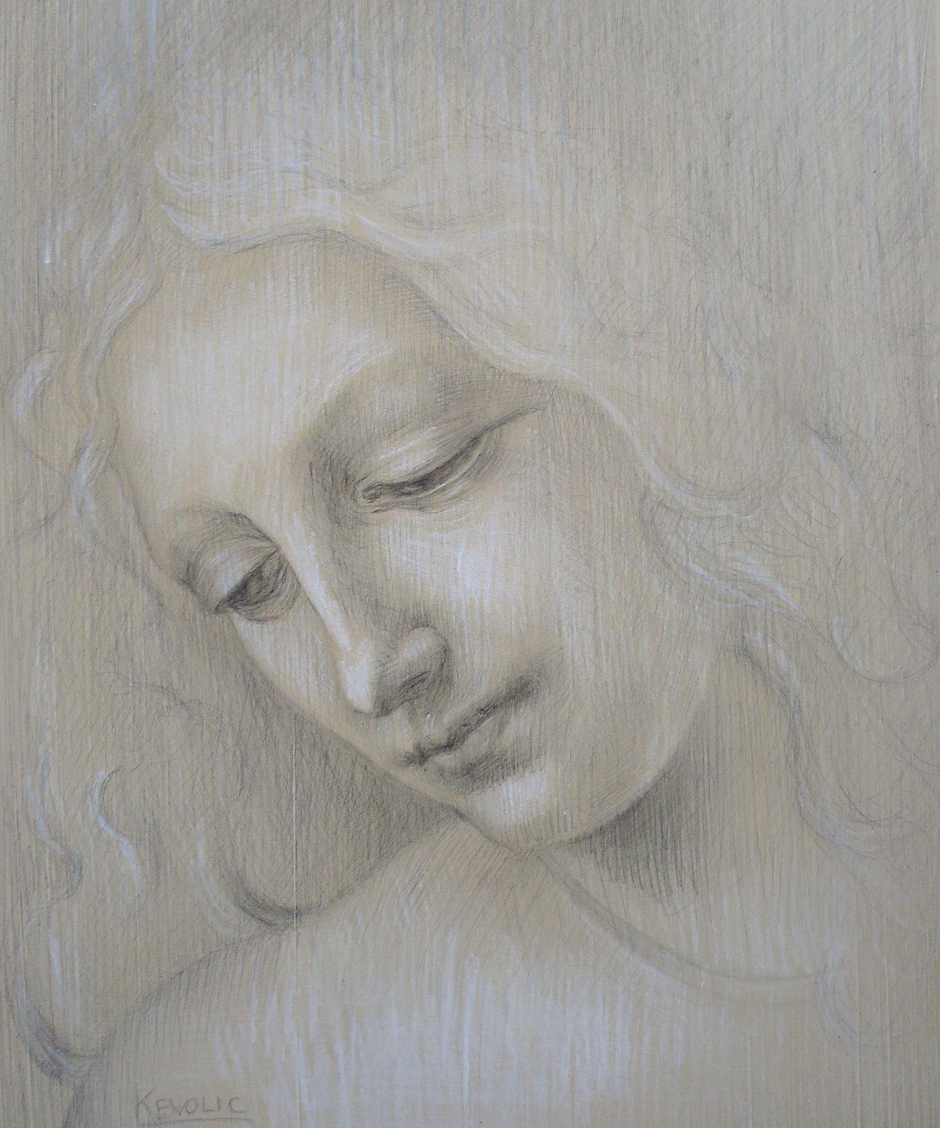 DaVinci Angel Silverpoint Drawings